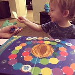 Archer loves playing his owl game before bed. It's our nighttime routine! by bartlewife