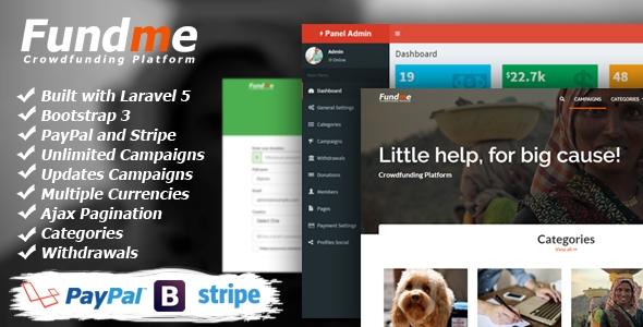 Fundme v2.3 – Crowdfunding Platform