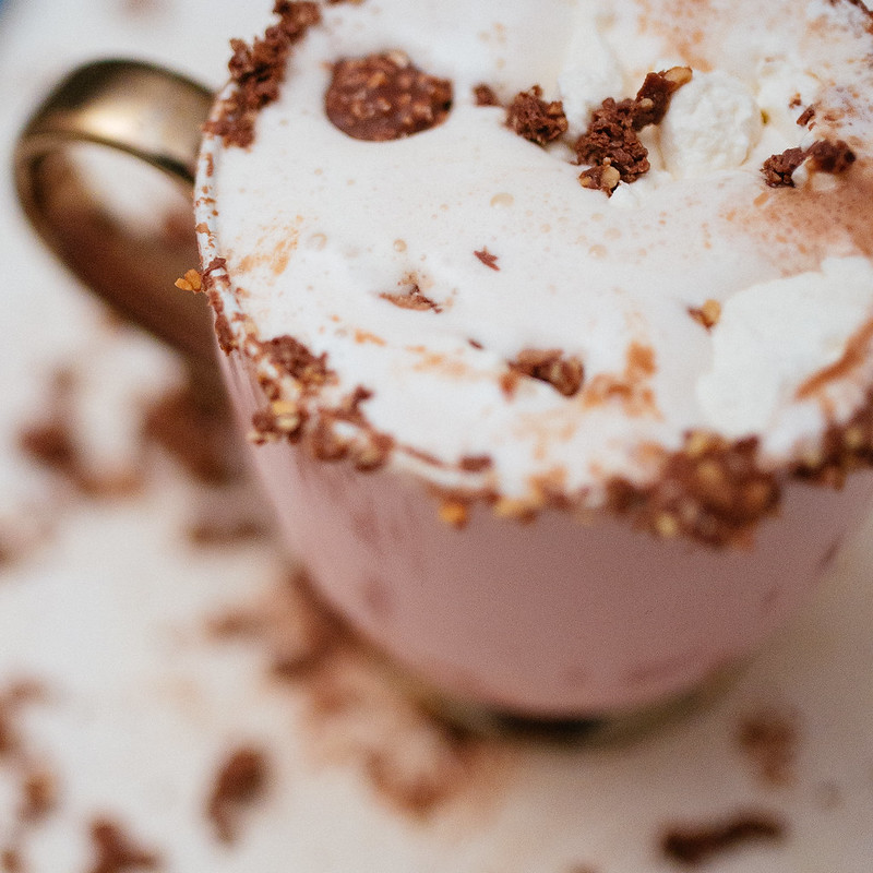 Ferrero Rocher and Nutella Hot Chocolate