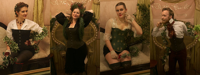 Holly, Evergreen, Mistletoe, and Ivy, at Dark Garden: Unique Corsetry: Tableau Vivant