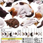 自然色彩動物轉蛋系列「貓咪 吊飾×磁鐵」【再次販售!】ネイチャーテクニカラーMONO ネコ ストラップ×マグネット