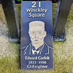 New Plaques around Winckley Square Gardens, Preston