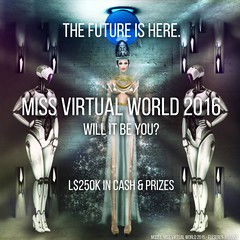 Miss Virtual World 2016 - Will you be the Queen of the Future