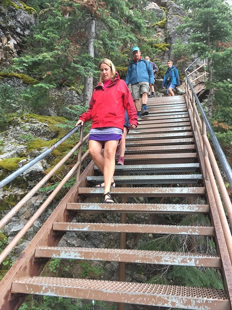 Stairway is not for the faint of heart