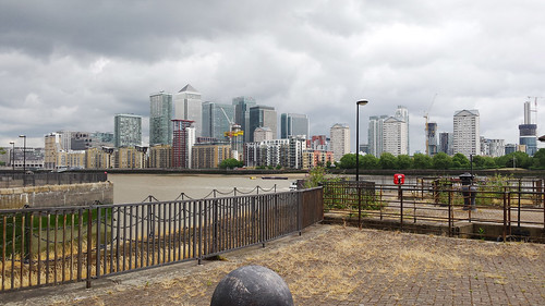 Docklands from the Thames Path