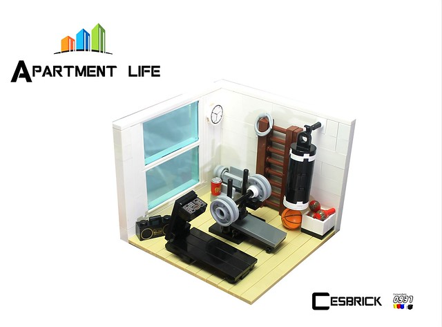 LEGO Apartment life - Home Gym
