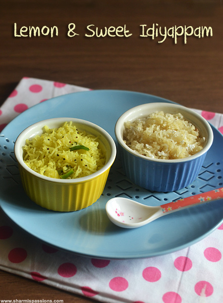 Sweet and Lemon Idiyappam Varietie