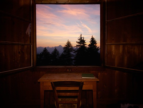 sunset summer alps window landscape europe alpine frame chamonix pinetrees saintgervais aravis alpinism benjaminhallphotocom