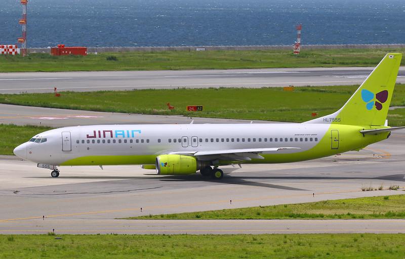 ジンエアー JINAIR 真航空 Boeing 737-800 HL7555