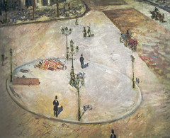 Gustave Caillebotte - A Traffic Island - Boulevard Haussamann, 1880 (Private Collection) viewed at The Painter's Eye Exhibit at National Gallery of Art Washington DC