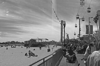 Santa Cruz - Boardwalk bw by roland luistro, on Flickr
