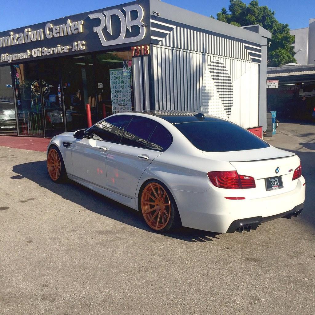 BMW M5 F10 on Rose Gold Wheels YUP! - M5POST - BMW M5 Forum