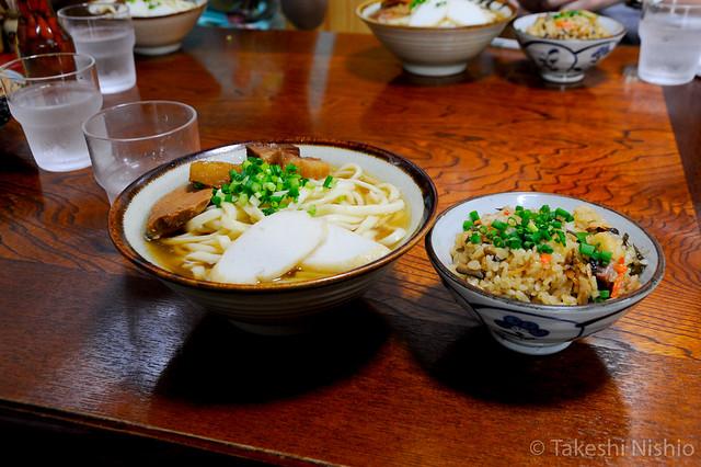 Okinawa-soba noodle