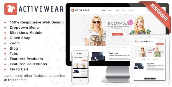 Responsive Shopify Theme – ActiveWear v1.2