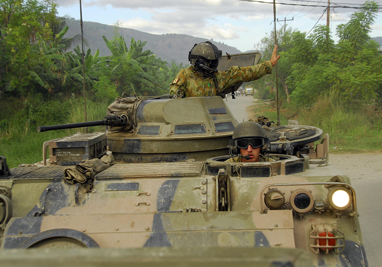 Australian Army M113 APCs in Timor-Leste
