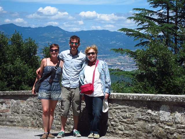 Us and Valeria, with Città di Castello in the Background