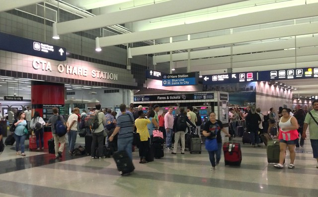 O'Hare airport CTA station problem areas