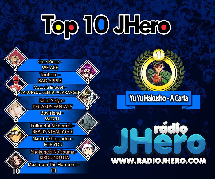 Que rufem os tambores, está chegando o Top Ten J-Hero
