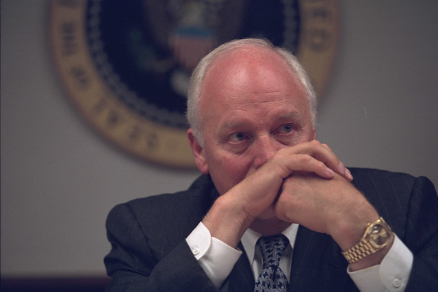 Vice President Cheney in the President's Emergency Operations Center (PEOC)