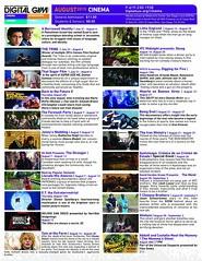 August Movie Schedule at Digital Gym CINEMA North Park