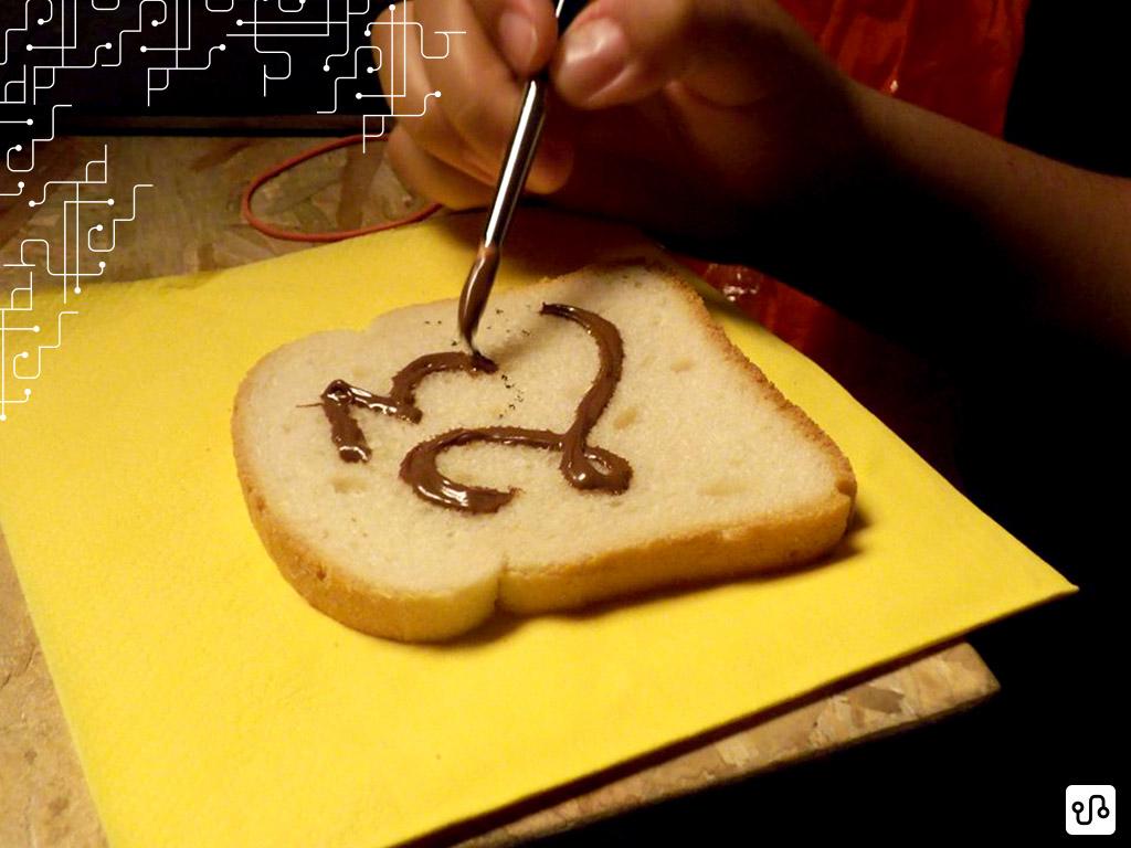 Pincel, Nutella e pão de forma