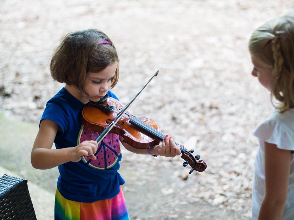 Leah on violin