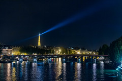 Eiffel Tower and the Seine by Night, Paris