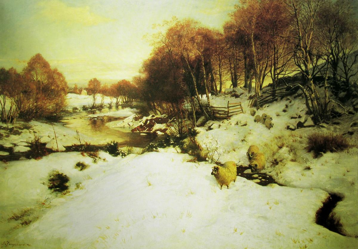 Evening at Finzean by Joseph Farquharson