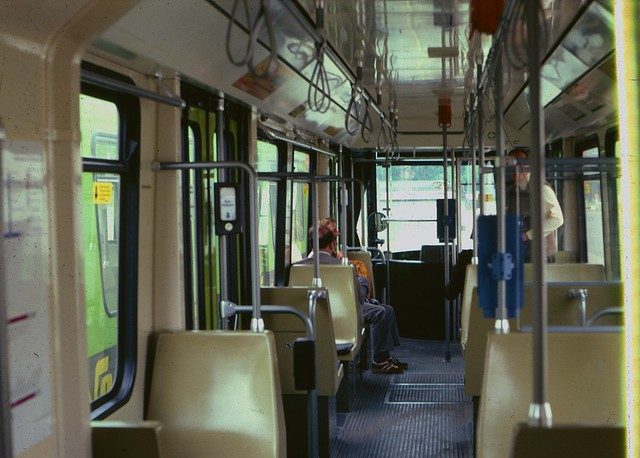 Hannover tram interior in 1979