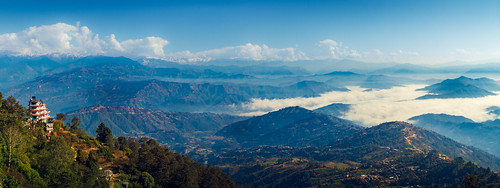 nepal nagarkot thehimalayas mountainrange morning clouds landscape panorama hills canon canoneos7d canonefs18135mmf3556is