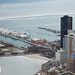 Frozen Lake Michigan by the Navy Pier - view from Chicago 360