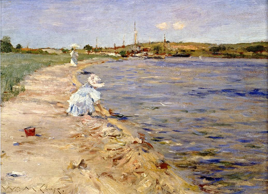 Beach Scene - Morning at Canoe Place by William Merritt Chase, c.1896