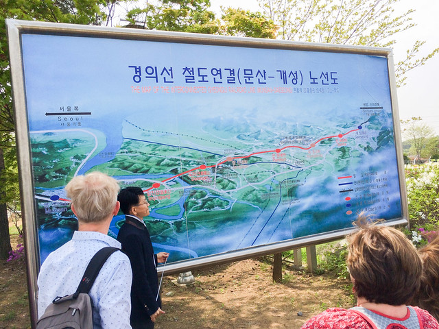 The Map of The Interconnected Gyeongui Railroad Line (Munsan-Gaeseong).