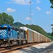 CSX Q210 with leased power in charge of todays train as they pass through Graysville, GA and just about a half mile behind me he would enter into Tennessee on their trip north to Louisville, KY by MrRailfan
