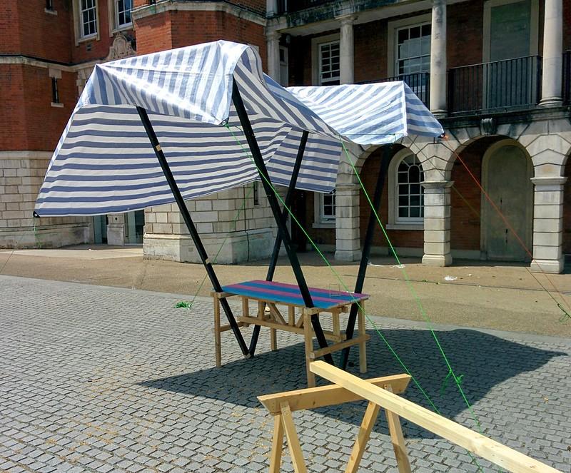Mari-inspired stall
