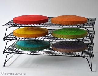 Rainbow cake tutorial 3