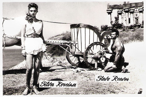 Sylva Koscina and Steve Reeves in Ercole e la regina di Lidia (1959)