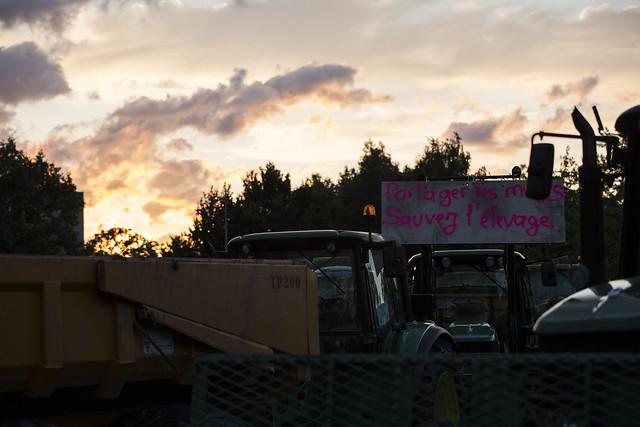 Rennes : Des grandes surfaces ciblées par les agriculteurs en colère