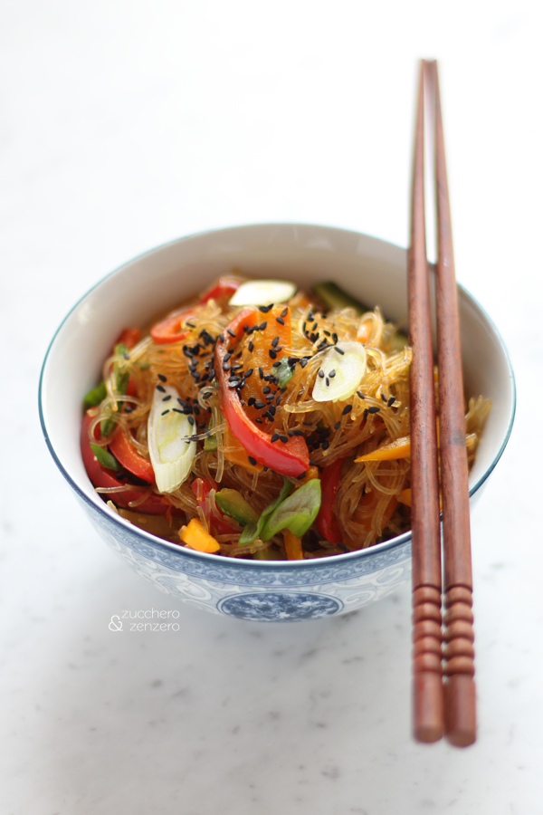 Vegetarian stir-fried vermicelli