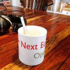 Den Tag starten mit einem Next Economy Open-Kaffee #NEO15 http://nexteconomy.me