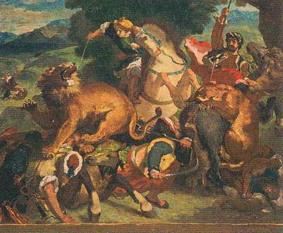 ルドン ライオン狩り