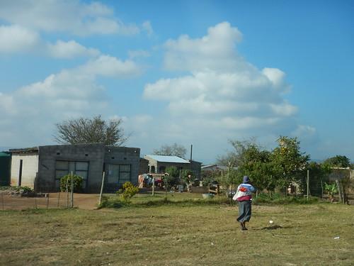 Woman carrying her baby, Mpumalanga