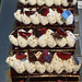 Rows of Black Forest cakes