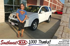 Congratulations to April  Estrada on your #Saturn #Vue from Mauricio Pena at Southwest KIA Rockwall! #NewCar