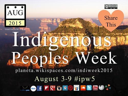 Indigenous Peoples Week 2015 #ipw5