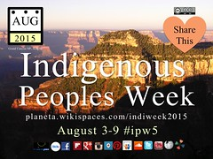 Indigenous Peoples Week 2015 #ipw5