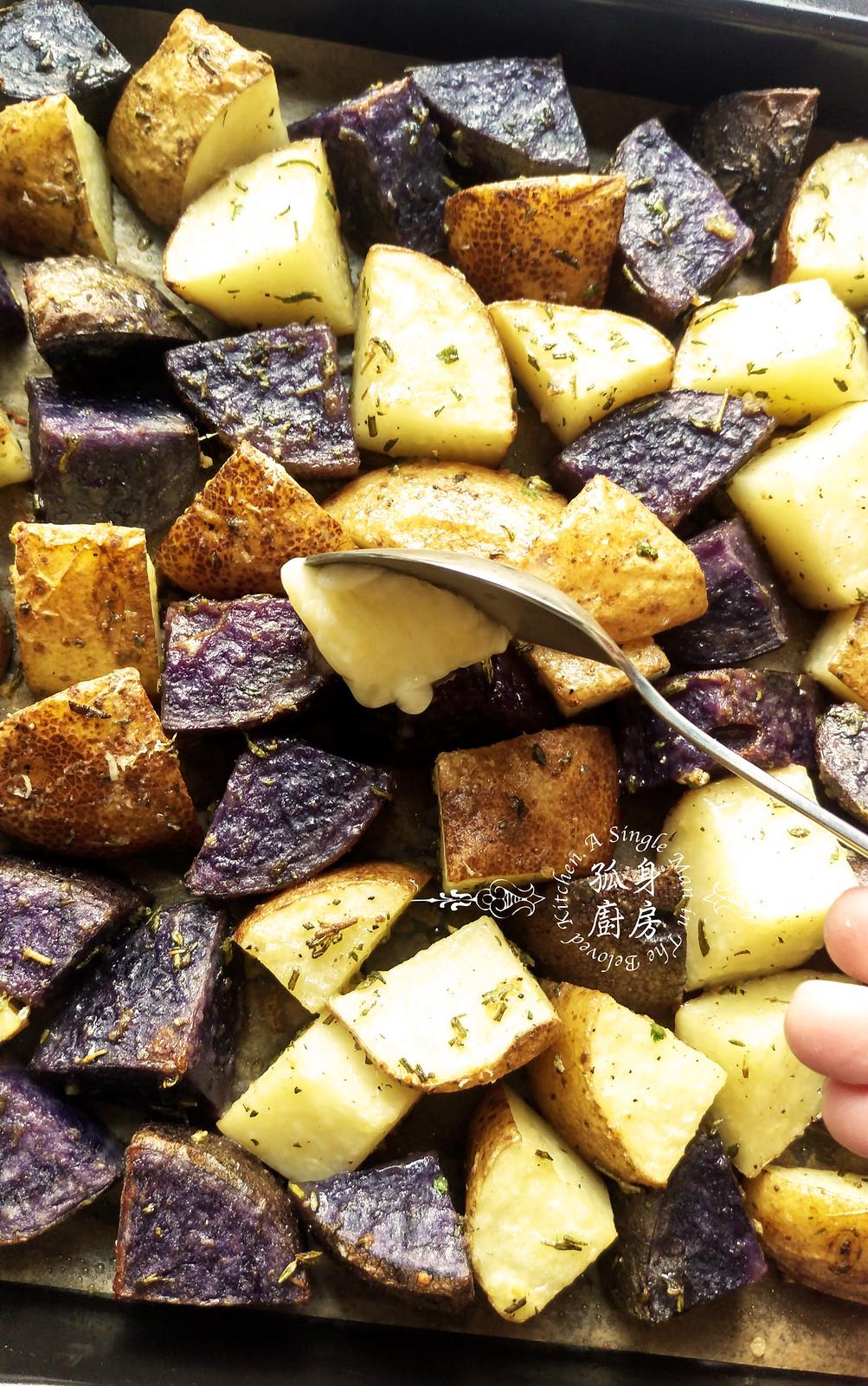 孤身廚房-香草烤雙色馬鈴薯──好吃又簡單的烤箱料理10
