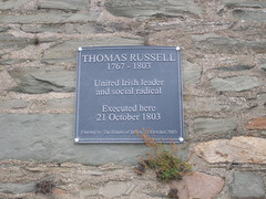 Photo of Thomas Russell grey plaque