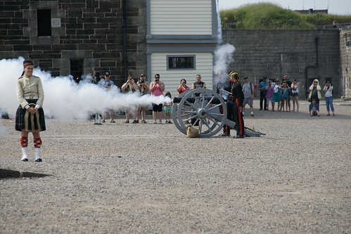 Cannon firing at the Citadel