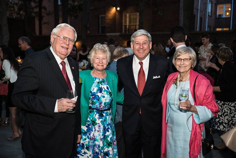 Congressman Joe Pitts and Mrs. Ginny Pitts with ISH-DC Board Member Larry Dunham and Mrs. Deborah Dunham
